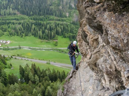 St Jodok Klettersteig : Stafflacher wand klettersteig sankt jodok
